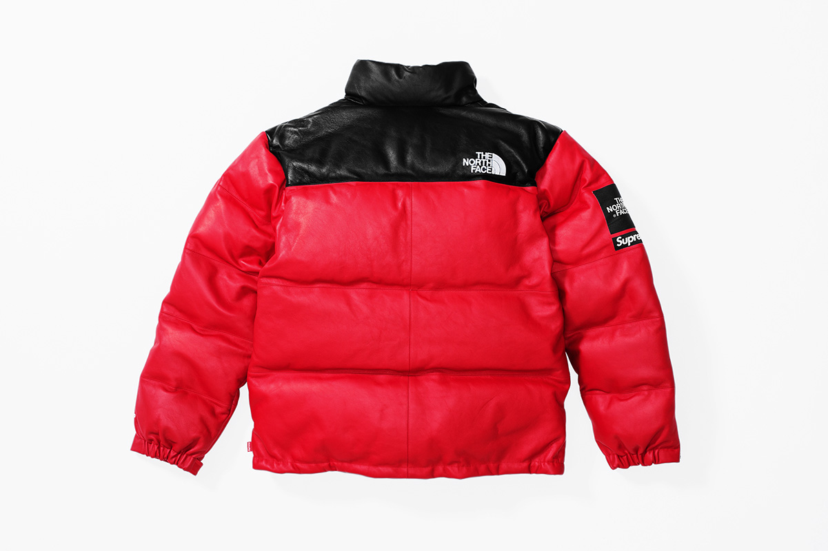 Fall:Winter 2017 Release - Leather Nuptse Jacket Red Back