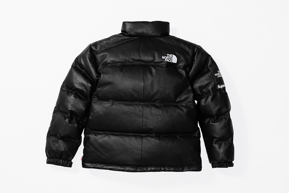 Fall:Winter 2017 Release - Leather Nuptse Jacket black back