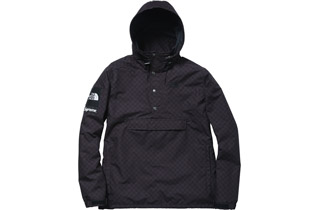 Black Checkered Windbreaker Pullover