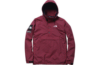 Red Checkered Windbreaker Pullover