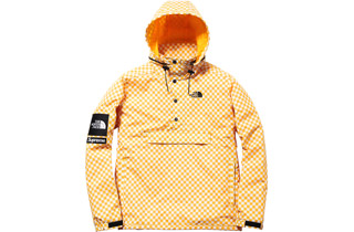 Yellow Checkered Windbreaker Pullover