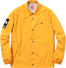 Yellow Packable Coaches Jacket