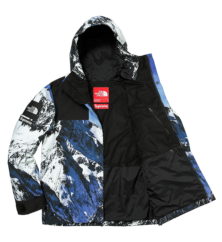 Supreme North Face Jacket Fall:Winter 2017 Release - Mountain Parka open