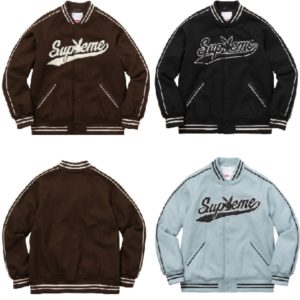 Supreme Playboy Wool Varsity Jacket 2017