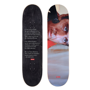 2017 - Supreme Scarface Shower Supreme Skateboard Deck