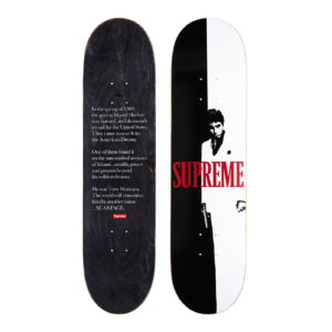 2017 - Supreme Scarface Split Supreme Skateboard Deck