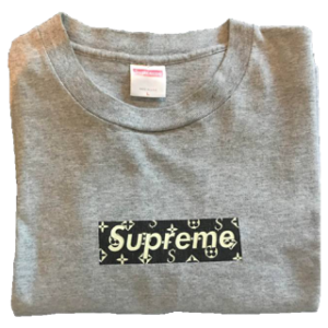 "2000 Supreme ""Louis Vuitton"" box logo tee Supreme tag"