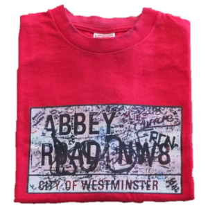 2002 Supreme Abbey Road Tee supreme tag