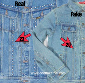 Supreme Studded Denim Trucker Jacket Real vs Fake