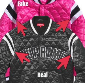 Supreme Quilted Satin Varsity Jacket Real vs Fake