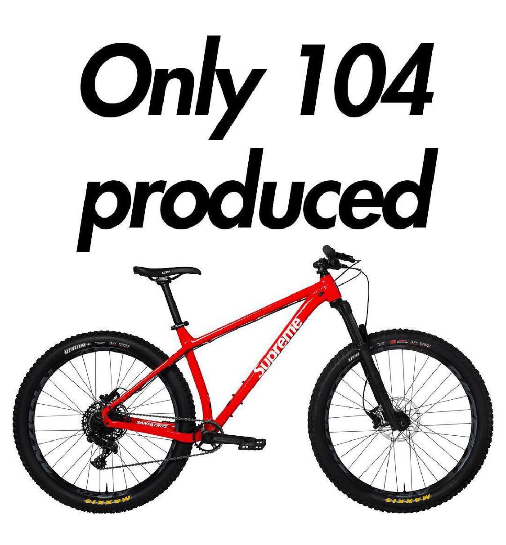 Rumored Only 104 Supreme X Santa Cruz Bikes Produced!