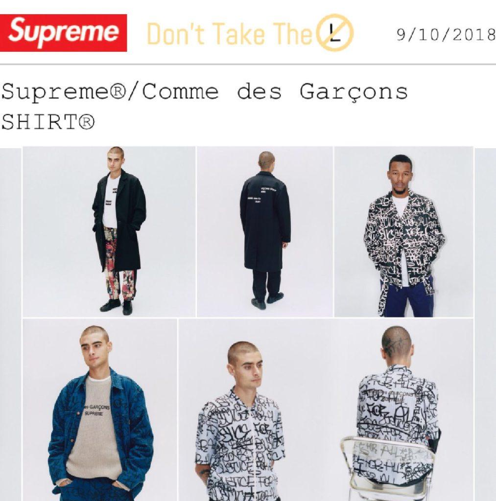 Supreme x COMME des GARÇONS SHIRT FW18 Collection
