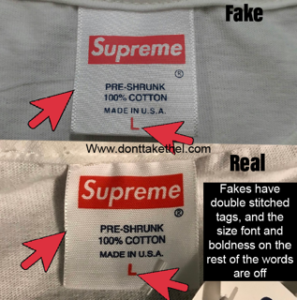 Supreme Japan Box Logo Tee Real vs fake
